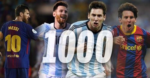 Messi har scoret 1000 mål i fotballkarriere